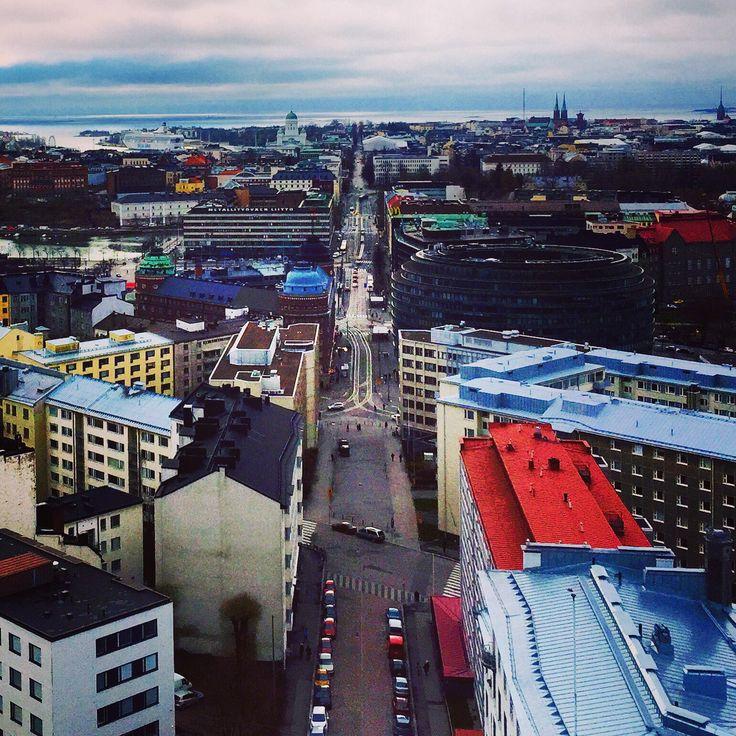 Helsinki from the tower of Kallio Church. Finland