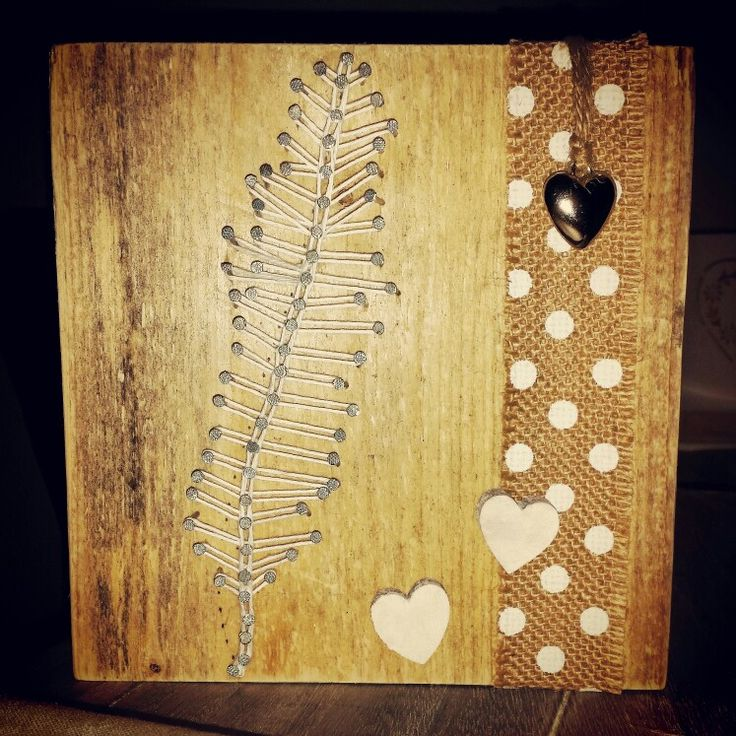 String art #feather #heart