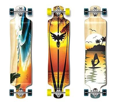 Best Longboards - Punked Lowrider Drop down through Longboard Complete skateboard