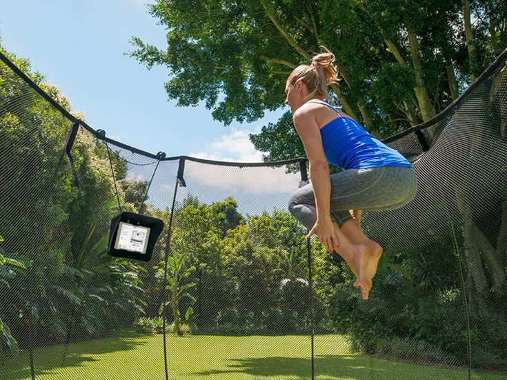 Goodbye gym membership! Bring the gym to your backyard with tgomaFit. It's got 26 trampoline exercises and 6 pre-set workout to get to moving.