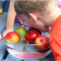 Apfel fischen Geburtstagsspiele Kinderfest