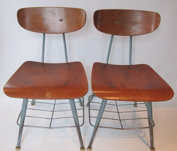Vintage School Chairs For Sale
