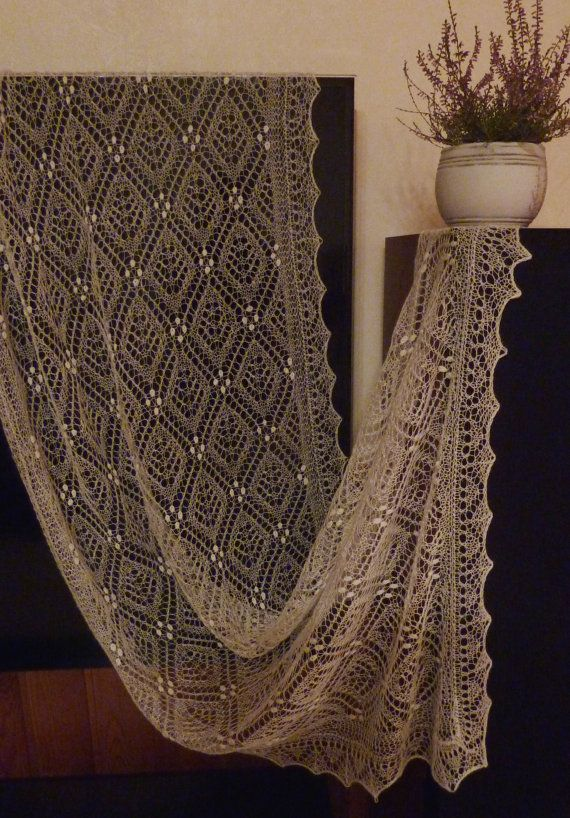 Estonian Lace Haapsalu shawl Cube letter with by HaapsaluShawl