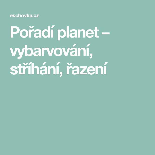 Pořadí planet – vybarvování, stříhání, řazení
