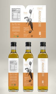 Avocado Oil, Coconut Oil & Almond Oil Label Preview