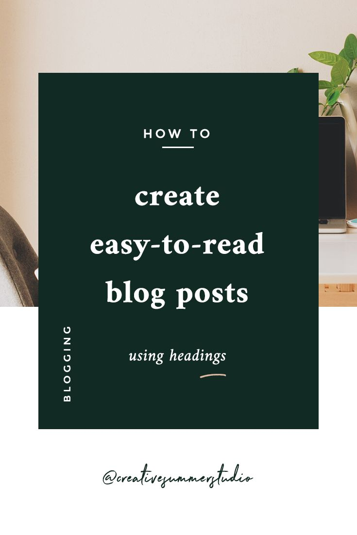 If you're a blogger or a creative writer, you know how important is to organize your content so it can be easier to read. Improve the comprehensivity of your blog posts by learning how to use properly headings & subheadings. The articles that are easy-to-read will be those that will go viral! Click here to find out how to start creating more readable posts. Make your blog posts easier to read to provide an incredible experience for your readers.