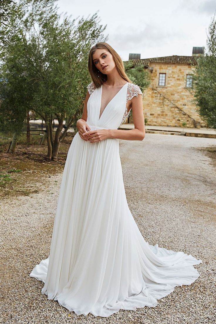 Jenny Yoo Tegan Wedding Dress Cap Sleeves Wedding Dresses Lace Celtic Wedding Dress [ 1104 x 736 Pixel ]