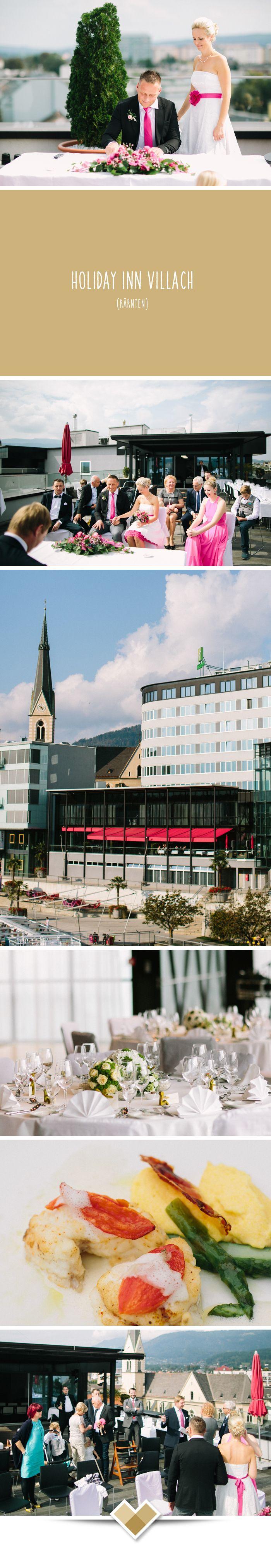 Holiday Inn Villach. Das Hotel bietet den idealen Rahmen, um den schönsten Tag im Leben zu genießen. Direkt an der Drau und trotzdem mitten in der Stadt gelegen, sind das Standesamt und Villachs schönste Kirchen ganz nah. Die standesamtliche Trauung mit Panoramablick kann organisiert werden. Mehr zu dieser Kärntner Hochzeitslocation: http://hochzeits-location.info/hochzeitslocation/holiday-inn-villach Fotos © Henry Welisch, http://www.henrywelischweddings.com/