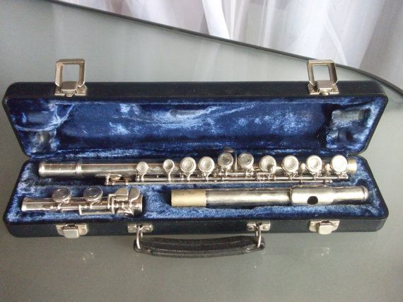 Armstrong Flute with Case Model 104 Vintage by VintageCoolETC