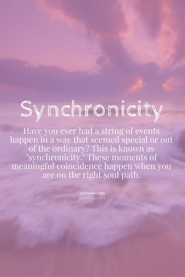 Synchronicity can manifest itself in the tiniest of moments, or the largest of events: