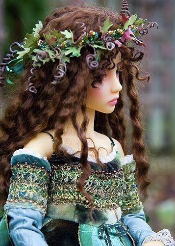 ≍ Nature's Fairy Nymphs ≍ magical elves, sprites, pixies and winged woodland faeries - Winter Fairy (queen's doll)