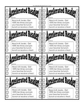 Accelerated Reader Punch Card