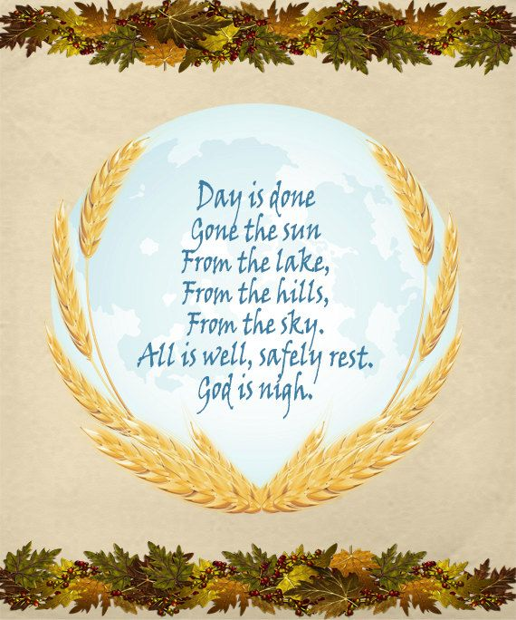 Taps Image, U.S. Military Bugle Call Image, Day Is Done Lyrics Image, Wall Art, Autumn Wall Décor, Family Room,Dining Room Décor,Fall Prayer by DigitalArtMovement on Etsy