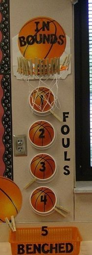 So cool! Neat behavior management  plan (couldn't use it in my classroom - because I have ALL the kids - but could adapt it somehow if we do a sports school theme again)