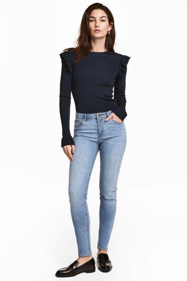 Pantalón superelástico - Azul denim claro - MUJER   H&M ES