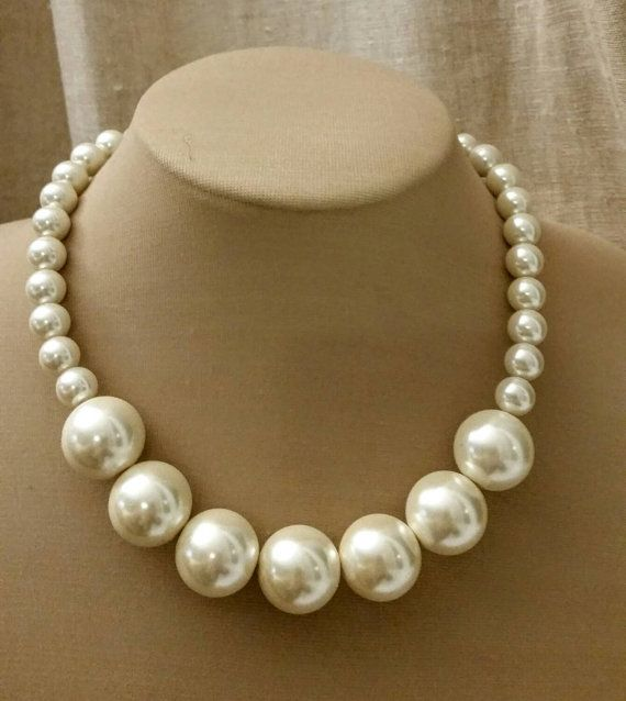 Check out this item in my Etsy shop https://www.etsy.com/ca/listing/263517511/chunky-pearl-choker-trending-choker