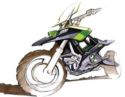 Motorbike sketch with some nice energy.