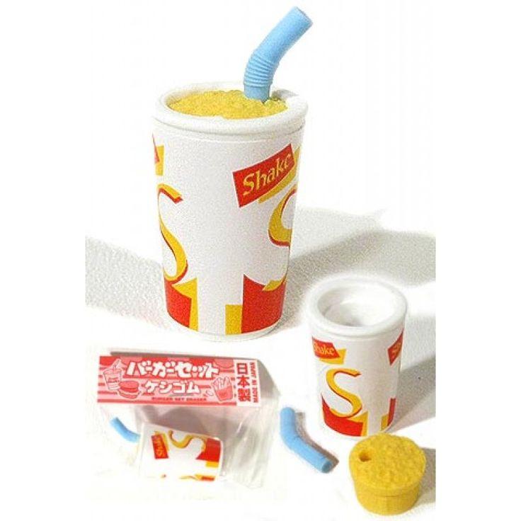 Milk Shake Eraser : IColorful Classic McDonalds Fast Food : Iwako Japanese Puzzle