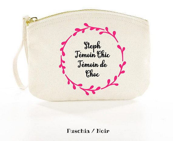 French Wedding Gifts: Gift Case For Wedding Witness French Quote,personalization