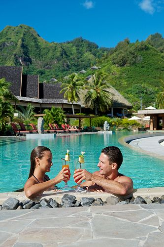 Enjoy crystal clear waters and relaxation at InterContinental Moorea Resort  Spa. #Tropical #Tahiti