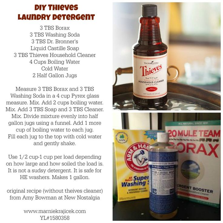 DIY Laundry Detergent made with Thieves cleaner