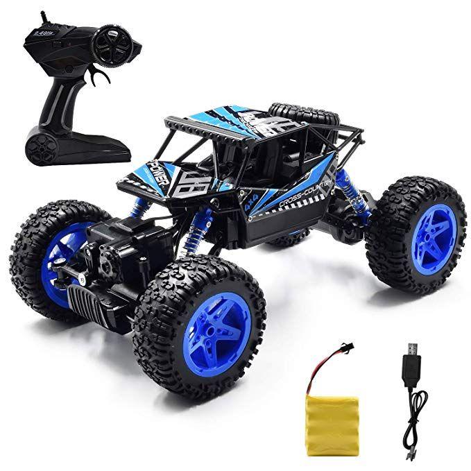 Jeestam Rc Car 2 4ghz Radio Remote Control Car 1 18 Scale 4wd High Speed Off Road Rc Trucks Rechargeable Batteri Remote Control Cars Rc Toys Toy Cars For Kids