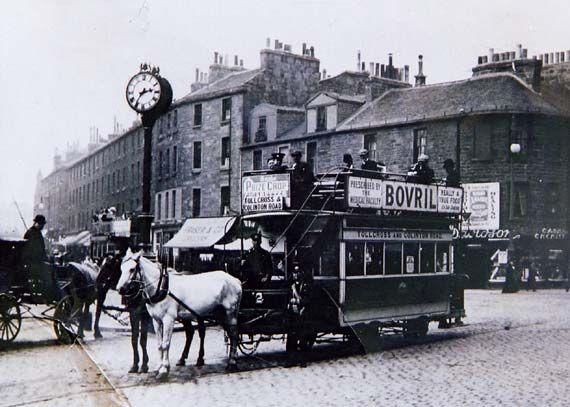 Edinburgh's Last Horse-drawn Tram - at Tollcross - 24 August 1907