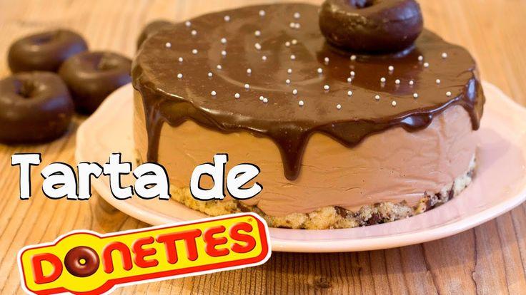 Tarta de Donettes   Receta fácil y sin horno - YouTube