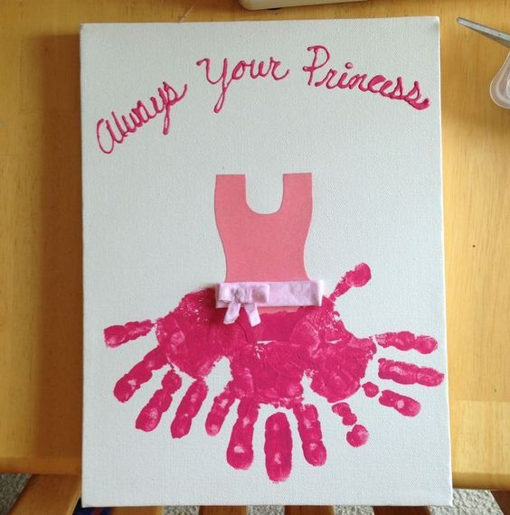 http://hostingecologico.com/url/fathersday2016 ---- Hand Print Ballerina   DIY Mothers Day Gift Ideas from Daughter