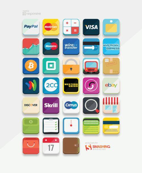 E-Commerce Icon Set (33 Icons, PNG, PS, AI)