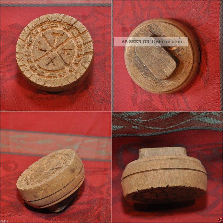 Brotstempel Griechisch Orthodox Judaica Liturgie Antik Holz Christentum Stempel Klosterarbeiten Bild
