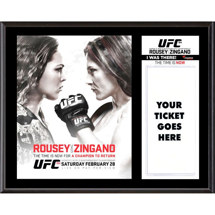 """Fanatics Authentic UFC 184 Ronda Rousey vs. Cat Zingano Dueling """"I Was There"""" 12"""" x 15"""" Sublimated Plaque - $31.99"""