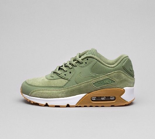 save off abebf 6fd94 Nike Womens Air Max 90 SE Trainers in Oil Green. A timeless classic takes a  tonal turn  leather, suede and textile construction with Max Air unit to  provide ...