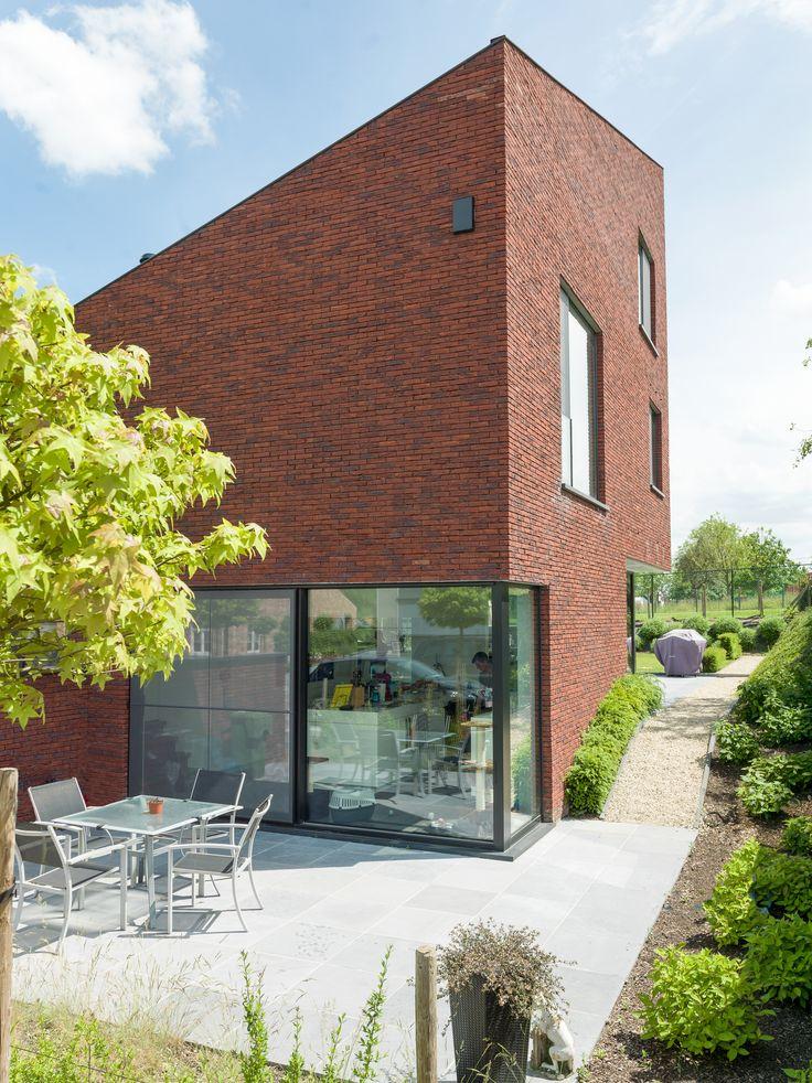 25 beste idee n over rode bakstenen huizen op pinterest for Huizen ideeen