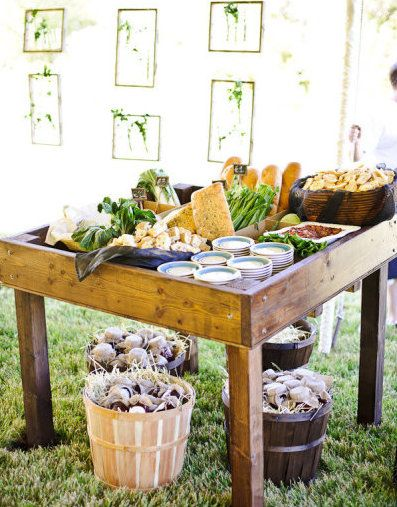 Farm style, rustic brunch or party ideas and inspiration