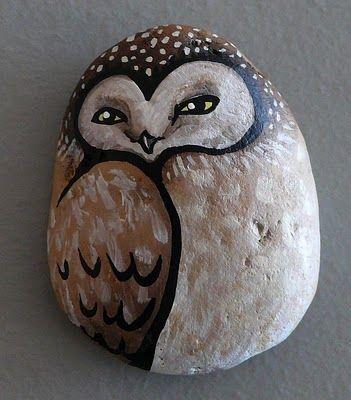 owl painted rocks