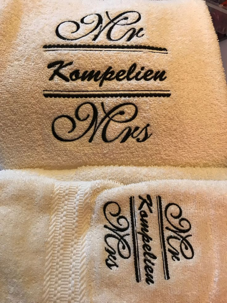 Elisa made these stunning towels using a design from Mr and Mrs.