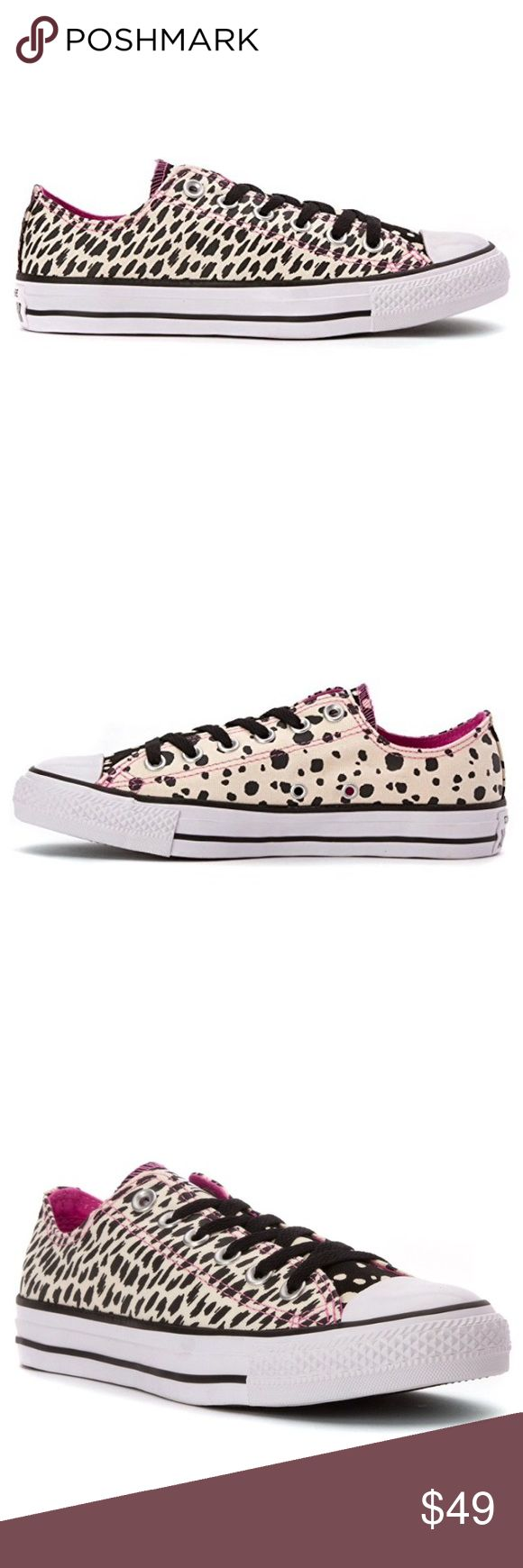 NWT CONVERSE WOMENS POLKA DOTS ANIMAL PRINT SHOES Brand new with box. 100% authentic. Price is firm ✨ ships same day or very next. WOMENS Converse Shoes Sneakers