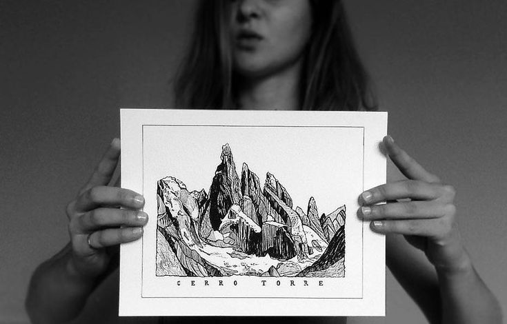 Excited to share the latest addition to my #etsy shop: Cerro Torre Illustration,Patagonia,Mountain Print,Nature Print,Minimalist Art,Black and White,Illustration,Wall Print, Landscape,Gift,Travel http://etsy.me/2AlMT6u #housewares #homedecor #black #white #bedroom #blackandwhite