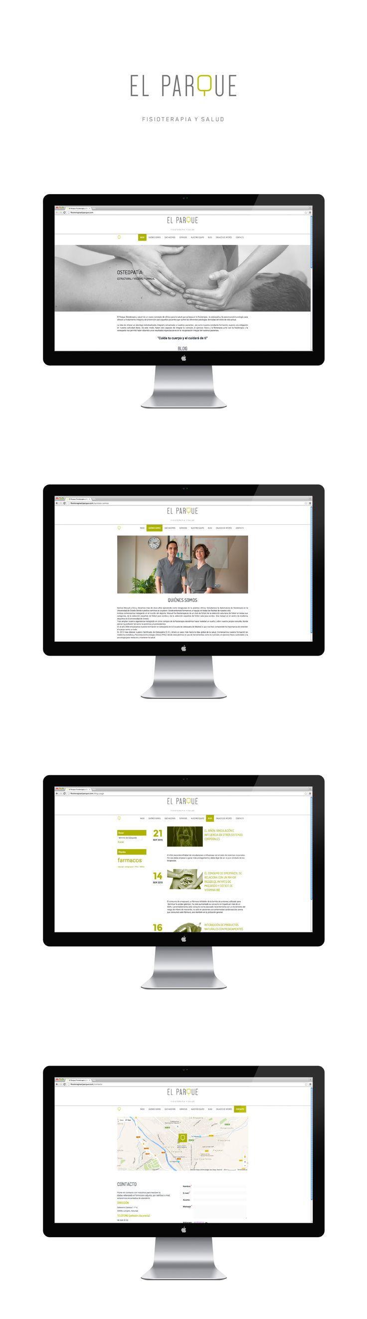 Sitio web de Fisioterapia El Parque