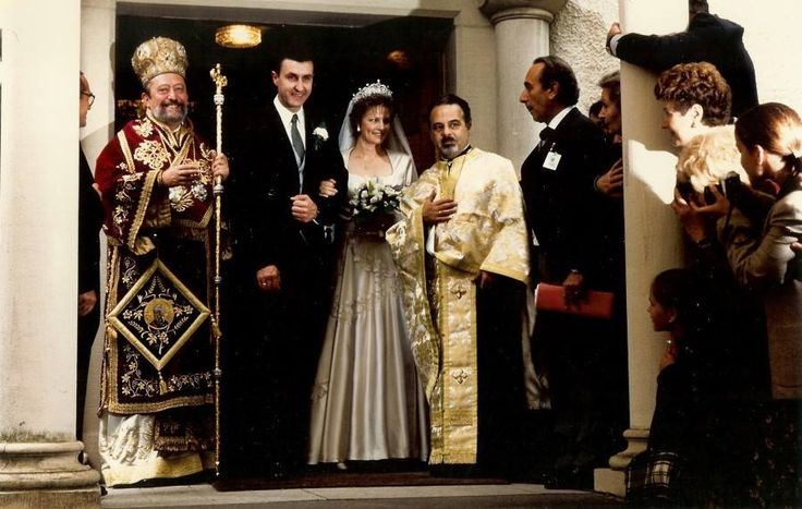 Crown Princess Margarita of Romania and Prince Radu - wedding 1996