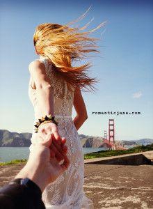 보헤미안 - 샌프란시스코 촬영본 업뎃 4/21) - 스몰 셀프 야외 하우스 웨딩 드레스 소규모 결혼식 미국스타일 화이트 레이스 빈티지 웨딩드레스 스냅 리마인드