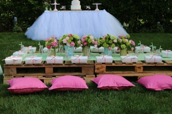 Kids Party Table Using Pallets Party Girl Themed