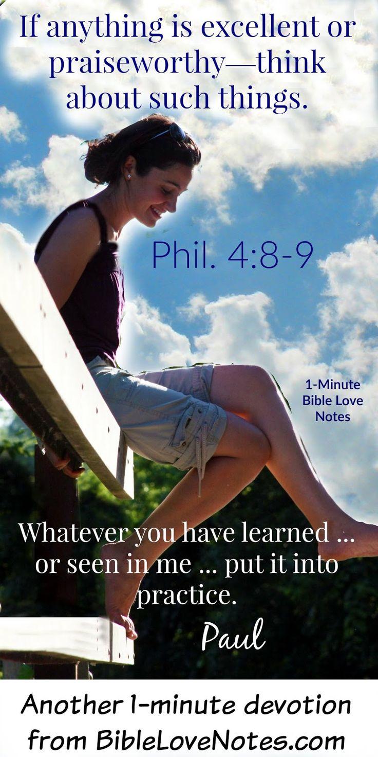 Best 25 Philippians 4 8 9 ideas on Pinterest
