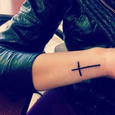 cross tattoos for women on hand - Google Search