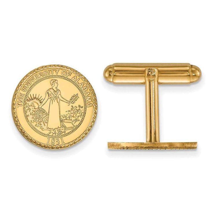 14ky LogoArt University of Alabama Crest Cuff Link