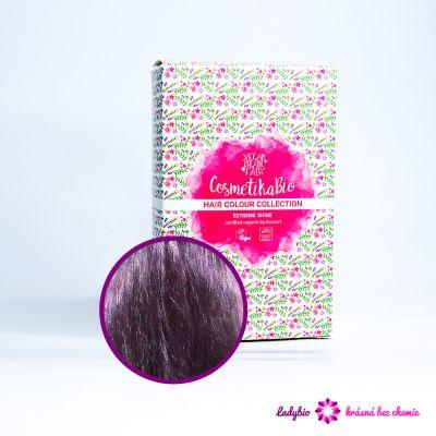 Cosmetikabio Přírodní barva na vlasy Fialová 100 g (Barvení vlasů) -  100% bio henna- odstín fialová (violet).Nová kolekce přírodních hennových barev na vlasy Cosme...