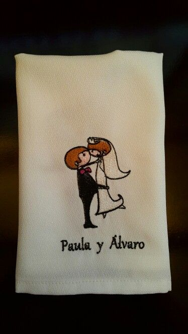 Servilleta de matrimonio #wedding #matrimonio #bordamor