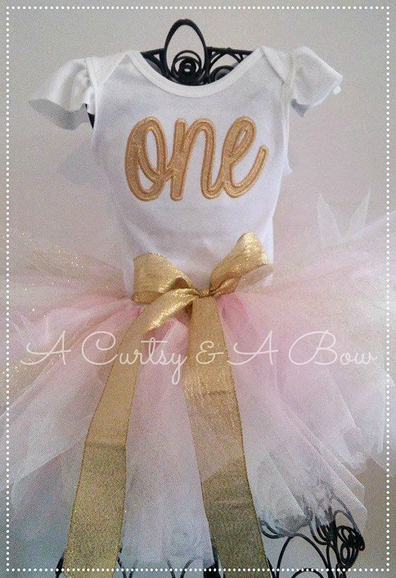 First Birthday Outfit Girls birthday shirt pink by ACurtsyandABow