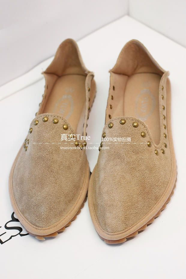 Корейская версия ультра-Мэн небольшой оранжевый кожаный нубука кожи вождения обувь, обувь для вождения указал плоские туфли розовые туфли Го ...